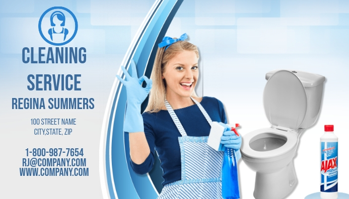 cleaning service business card - Cleaning Company Business Cards