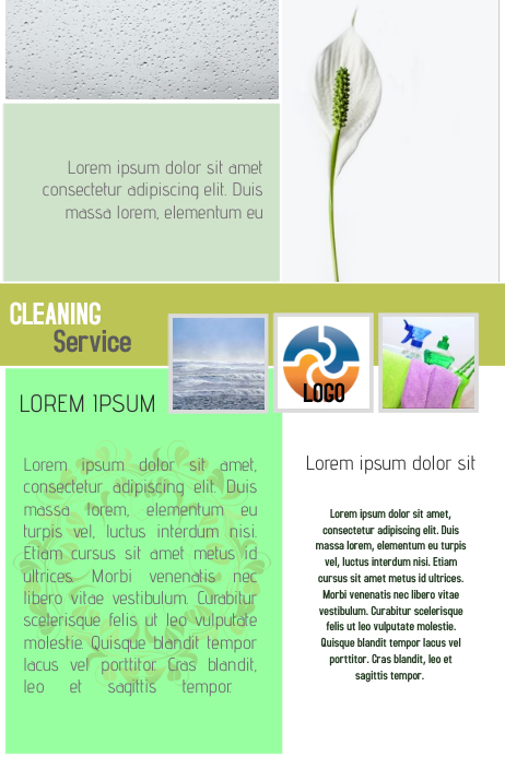 cleaning service business flyer newsletter template light