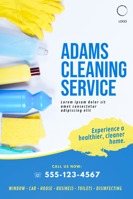 cleaning service business flyer template pink | PosterMyWall