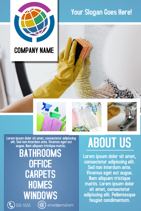 cleaning service business flyer template