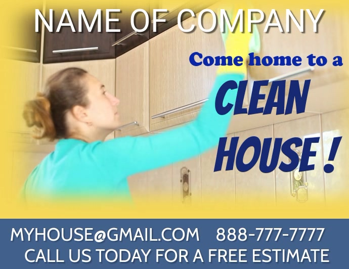 CLEANING SERVICE cleaning service maid service Løbeseddel (US Letter) template