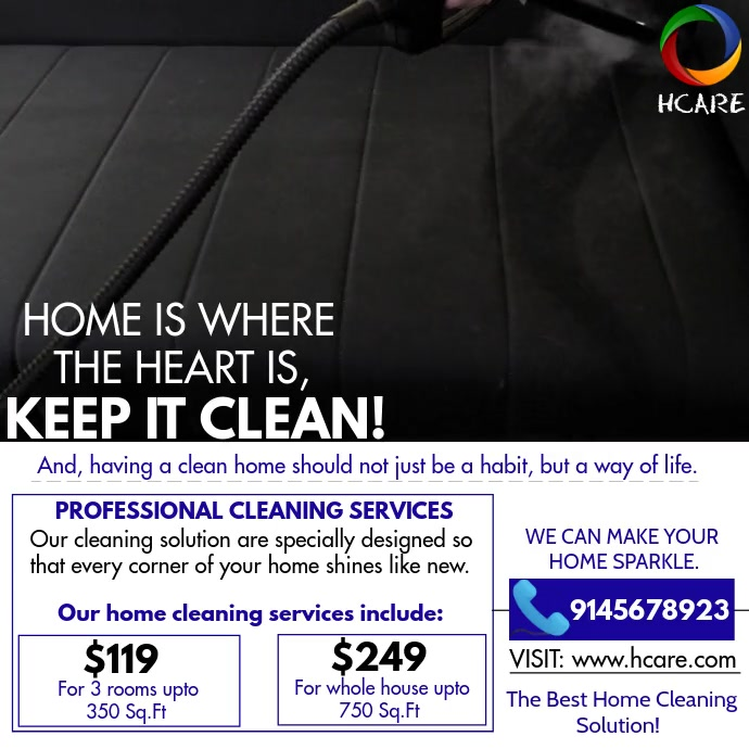 CLEANING SERVICE Kwadrat (1:1) template