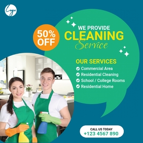 Cleaning Service Instagram Post template