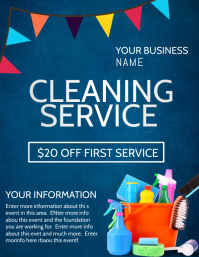 CLEANING SERVICE Flyer (US Letter) template