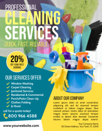 Cleaning Service Flyer (Letter pang-US) template