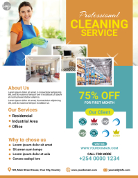 Cleaning service flyer Volante (Carta US) template