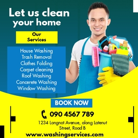 CLEANING SERVICE FLYER Instagram Post template