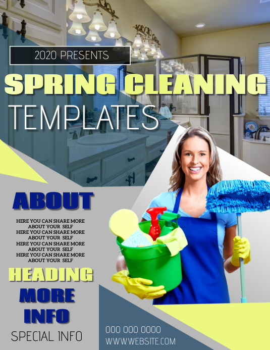 CLEANING SERVICE FLYER POSTER TEMPLATE