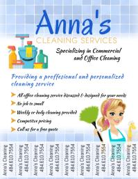 Cleaning Service Template 传单(美国信函)