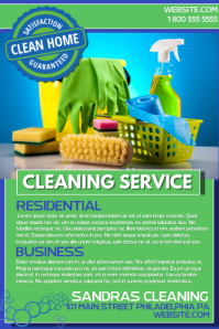 Cleaning Service Flyer Templates PosterMyWall - Commercial cleaning brochure templates
