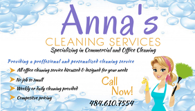 Cleaning service business card templates postermywall cleaning service template wajeb Choice Image