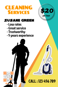 cleaning services flyer professional design