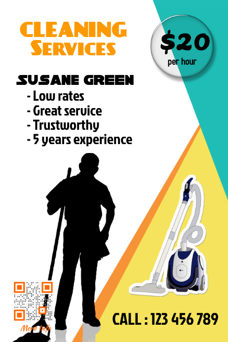 Cleaning services flyer - Professional design