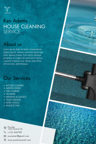 Cleaning Service Flyer Template Affiche