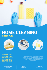 Cleaning Service Flyer Template โปสเตอร์