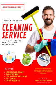 Cleaning Service Flyer Template Poster