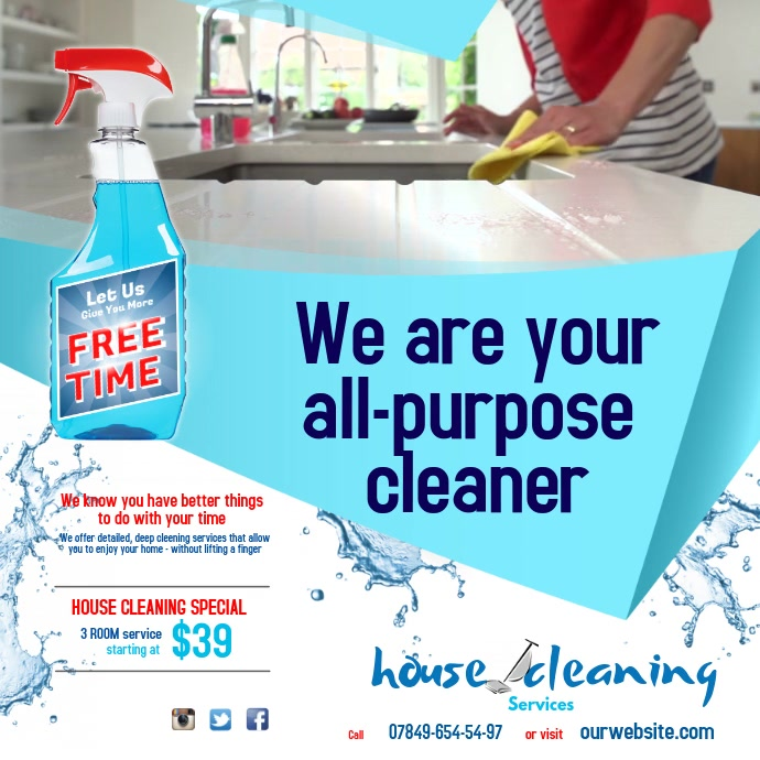 Cleaning Service Instagram Post