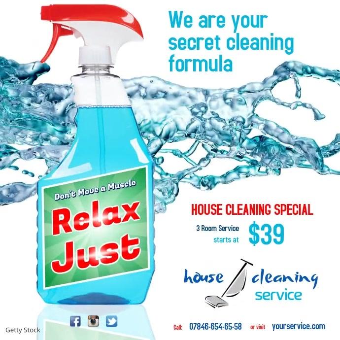 Cleaning Service Instagram Template Instagram-bericht
