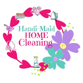 Cleaning Service Maid House Cleaning Logo template
