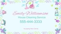 Cleaning Service Modern Business Card Biglietto da visita template