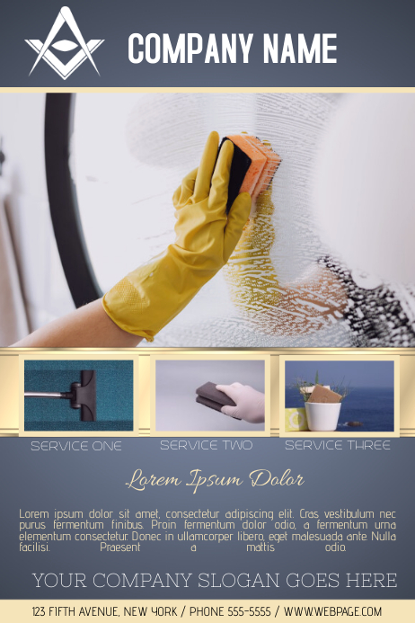 cleaning service flyer newsletter template