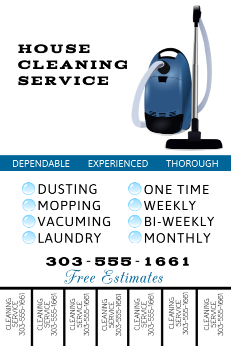 Cleaning Service Flyer Templates Postermywall
