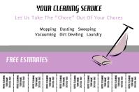 housekeeping flyer template