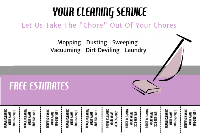 Cleaning Service Plakat template