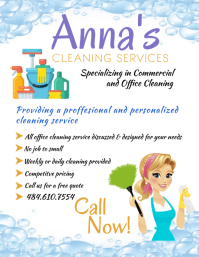 Cleaning Service Template Volante (Carta US)