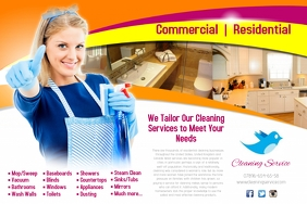 Cleaning Service Flyer Plakkaat template