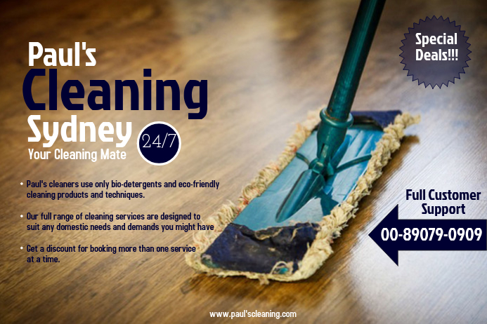 Cleaning Service Poster Template