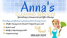 Cleaning Service Template Wizytówka
