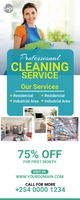 Cleaning service roll up banner template