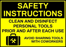 Cleaning Service Safety Sign Template Pocztówka