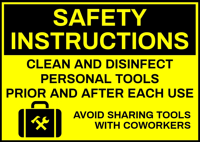 Cleaning Service Safety Sign Template Kartu Pos