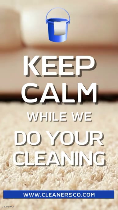 Cleaning Service Signage Video Template