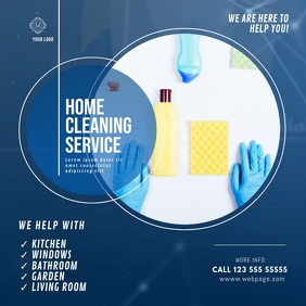 Cleaning Service Video Ad Template Quadrado (1:1)