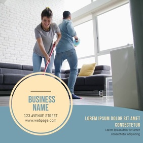 Cleaning Service Video Ad Template Square (1:1)