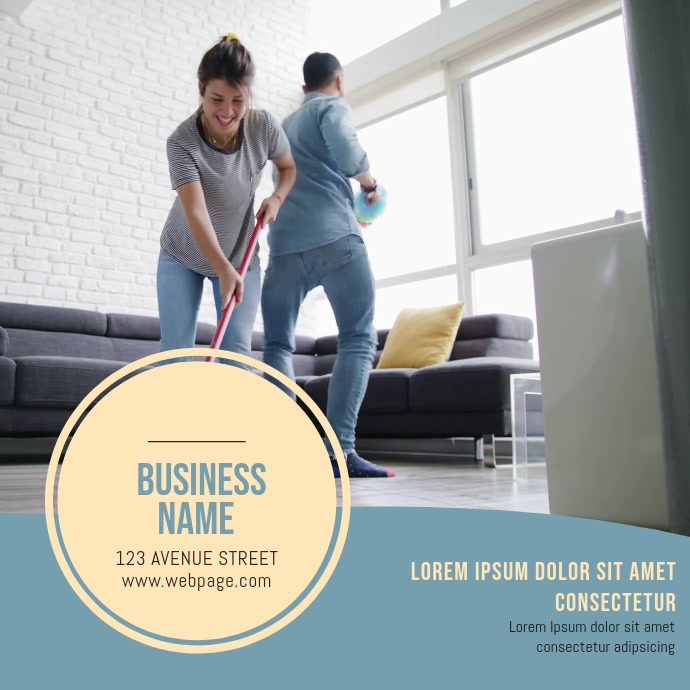 Cleaning Service Video Ad Template Vierkant (1:1)