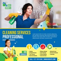 Cleaning Service Video Instagram Post template
