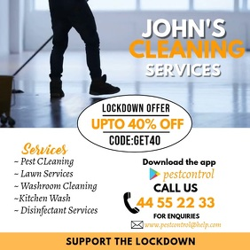 Cleaning Service Video Flyer for Instagram template