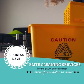 Cleaning Service Video Flyer for Instagram