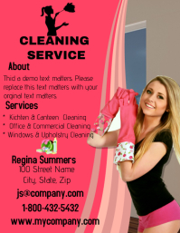 Cleaning Service with a smile flyer
