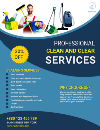 Cleaning services,washing ,event Volante (Carta US) template