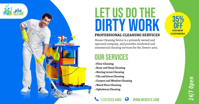 Cleaning Services Ad Gambar Bersama Facebook template