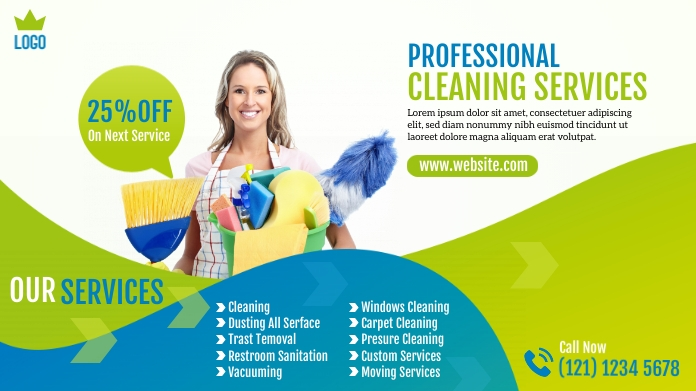 Cleaning Services Ad Wpis na Twittera template