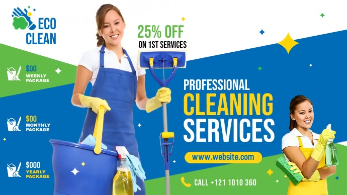 Cleaning Services Ad Iphosti le-Twitter template
