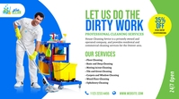 Cleaning Services Ad Twitter 帖子 template