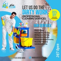 Cleaning Services Ad Instagram Post template