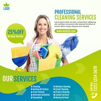 Cleaning Services Ad Instagram na Post template